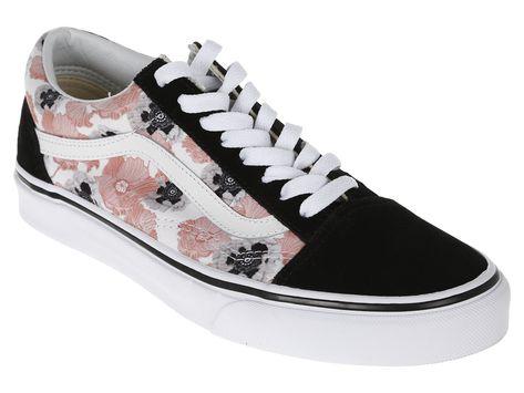 8a43bcce4db Tenis floral Vans negro