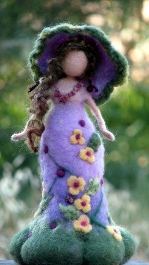 Art doll Waldorf inspired Needle felted doll от Made4uByMagic