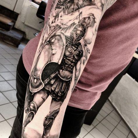 #gladiator #archilleus #krieger #spartan #ink #tattoo