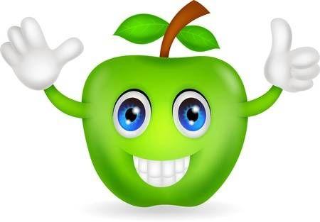 Dibujos Animados De Manzana Verde Dibujos Animados Dibujos Flores Animadas
