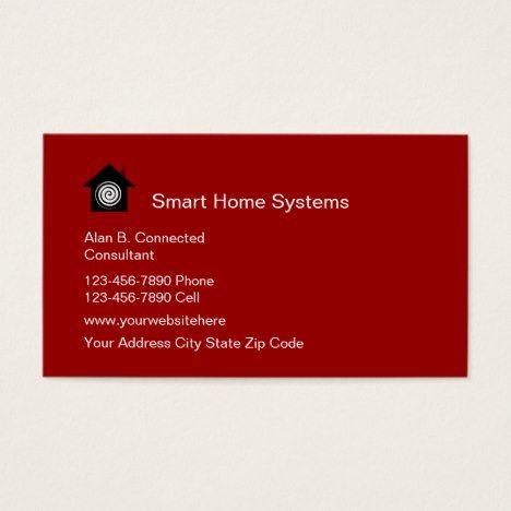 Smart Home Business Cards Zazzle Com With Images Unique
