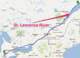 Us Map Of St.Lawrence River Pin on Hero