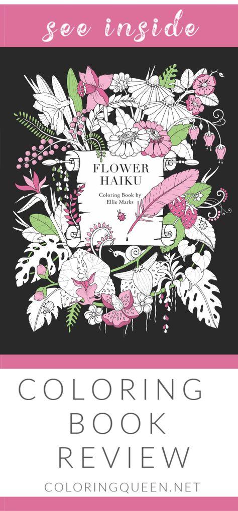 Flower Haiku Coloring Book Review Coloring Queen Coloring Books Haiku Color