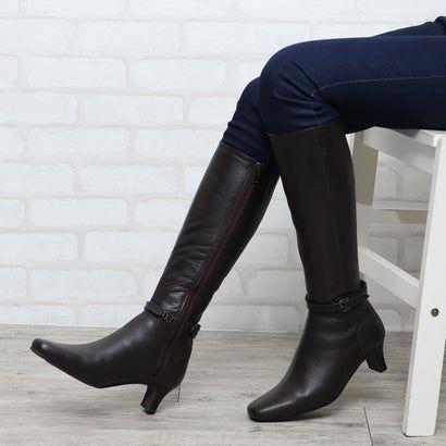 シューズラウンジ Shoes Lounge 本革 ロングブーツ 7075344dbr ダークブラウン アウトレット通販 ロコレット Locolet 2020 ロングブーツ ブーツ シューズ