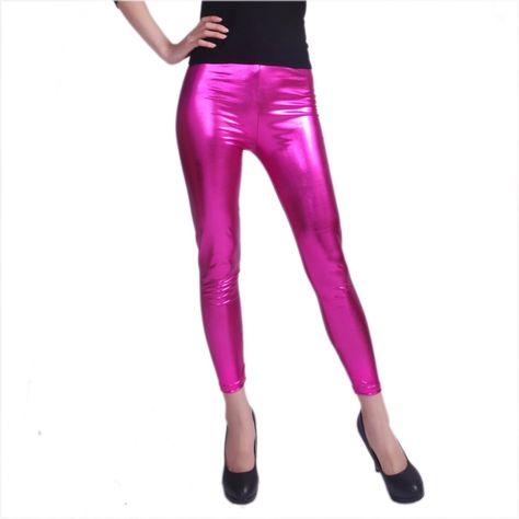 2c9c764af768b HDE Women Shiny Liquid Wet Look Metallic Stretch Leggings - Plus Sizes  Available at Amazon Women's Clothing store: Leggings Pants