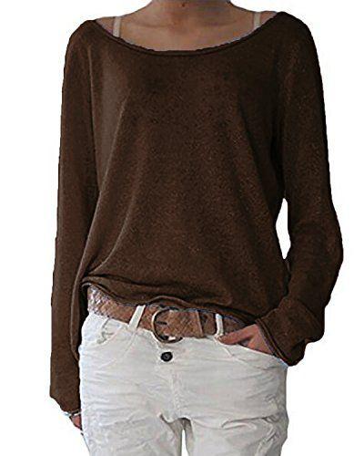 ZANZEA Damen Langarm Lose Bluse Hemd Shirt Oversize
