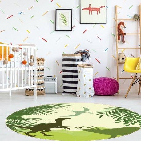 Tapis Vinyle Enfant Dinosaures Decoration Chambre Enfant Tapis Vinyl Et Taille De Tapis