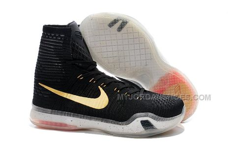 "a67d127fd87 Nike Kobe 10 High Top Elite ""Rose Gold"" Black White Hot Lava-Metallic Red  Bronze"