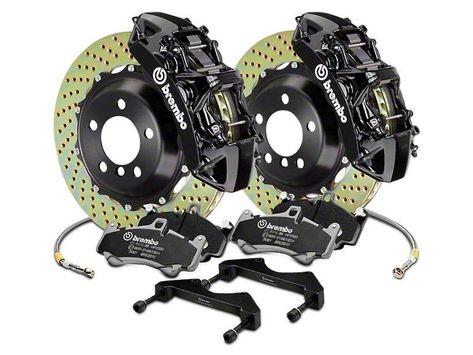 Brembo GT Series 6-Piston Front Brake Kit - 15 in. Cross Drilled Rotors - Black (17-19 F-150 Raptor)