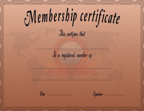 Membership Certificate Template u2013 15+ Free Word, PDF Documents - membership certificates templates