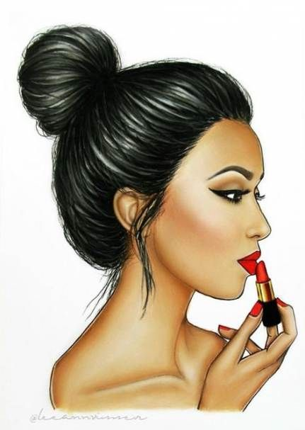 16 ideas drawing girl beautiful red lips drawing in 2019
