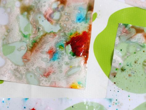 Kids Crafts: Making Marbleized Paper