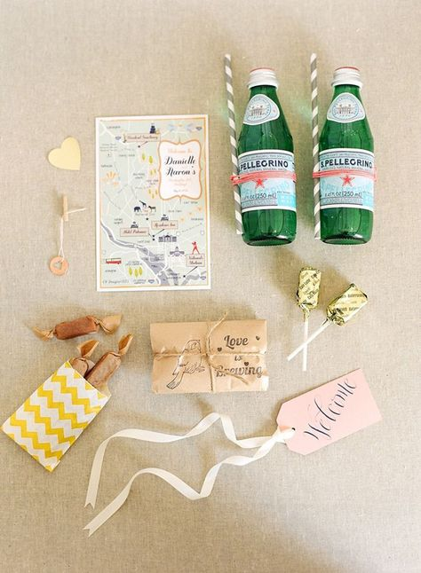 Ingredients for a cute wedding guest goodie bag