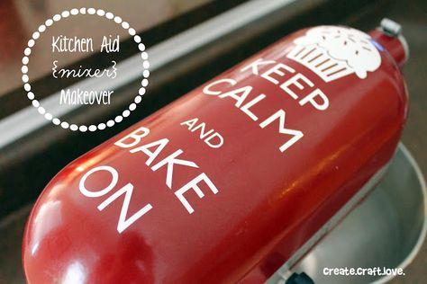 kitchen aid mixer vinyl makeover