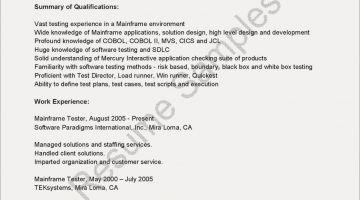 65 Beautiful Gallery Of Sample Resume Loadrunner Experience Sdlc