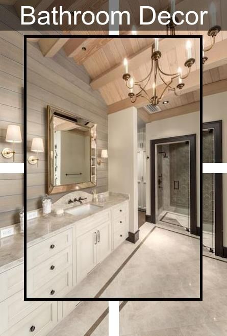 Beach Themed Bathroom Accessories Mirrored Bathroom Accessories Sets His Hers Bathroom Decor In 2020 Bathroom Tile Designs Best Bathroom Tiles Bathroom Design