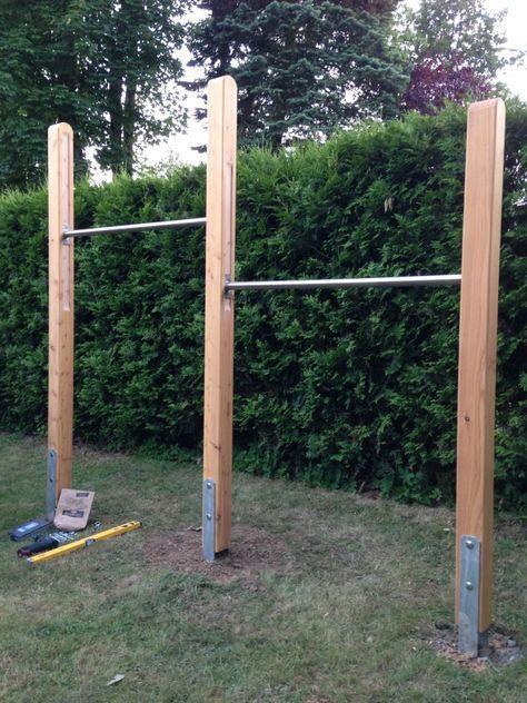 Ein Tolles Selbstgebautes Turnreck Diy Doityourself Turnreck Garten Garten Spielplatz Reckstange Garten