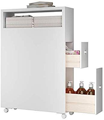 Amazon Com Tangkula Modern Bathroom Storage Cabinet With Wheels Rolling Bathroom Floor Cabi In 2020 Bathroom Floor Cabinets Bathroom Storage Bathroom Storage Cabinet