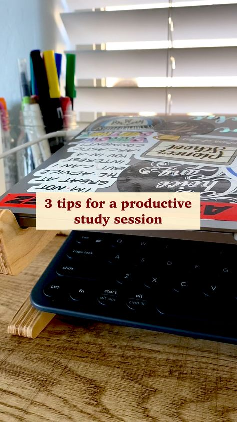 study tips for a ✨productive✨ study session