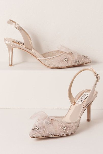 Check Out Badgley Mischka Angeline Heels From Bhldn Bridal Shoes Heels Wedding Shoes
