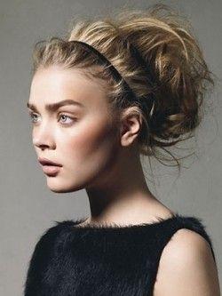 Messy Grecian Updo #blonde #updo #spring eSalon.com