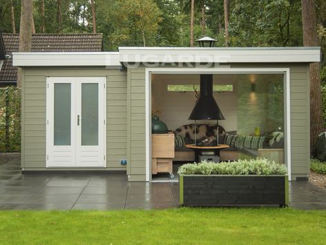 Lugarde Prima Ruby Flat Roof Summerhouse With Canopy Summer