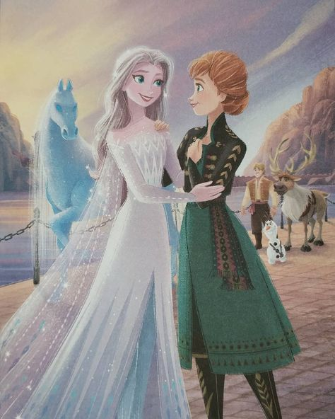 "Elsa on Instagram: ""The Reunion 💙  #Elsa #Anna #Disney #Frozen #Frozen2"""