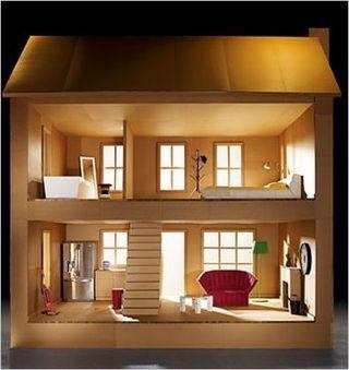 Homemade Cardboard Dollhouse Easy To Do Cardboard Dollhouse