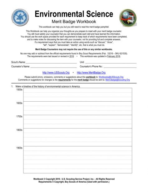 12 Merit Badge Environmental Science Worksheet Science Worksheets Environmental Science Science