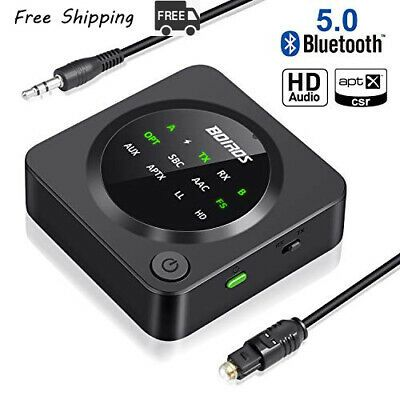 Details About Boiros Bluetooth 5 0 Transmitter Receiver 2 In 1 Digital Optical Wireless Audio Adapter Bluetooth Audio Adapter Car Stereo Systems