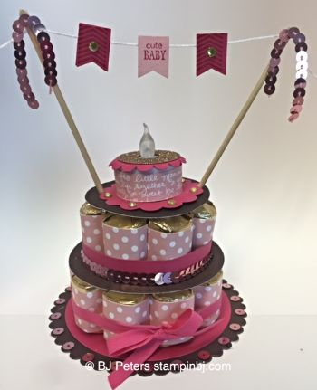 Baby, Nugget Cake, 3D, Stampin' Up!, BJ Peters, Banner Banter