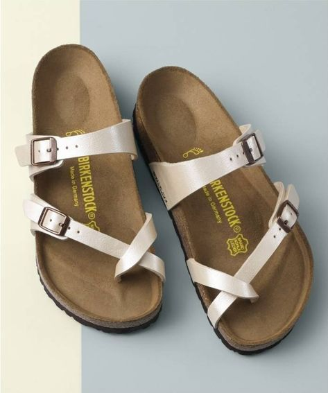Suede Lined Cork Footbed Combines With A Cushy Eva Sole To Provide Ultimate Comfort In A Casual Sandal Fashioned With Adjustab Womens Sandals Shoes Birkenstock