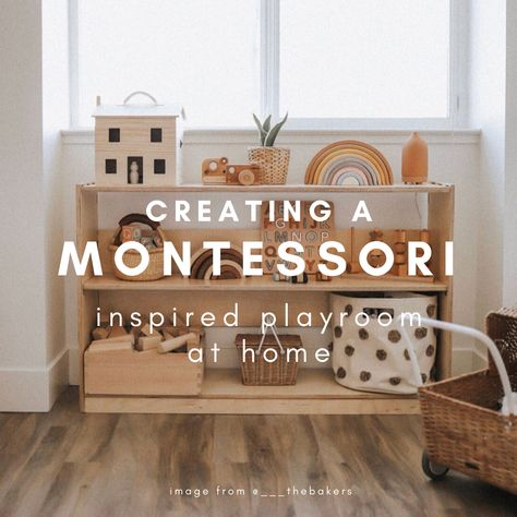 Our Design Tips for Creating a Montessori Inspired Playroom at Home Montessori Toddler Rooms, Montessori Bedroom, Montessori Toys, Playroom Design, Playroom Decor, Playroom Table, Playroom Flooring, Toddler Playroom, Small Playroom