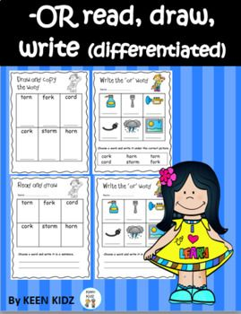 R controlled (or) read draw write | R CONTROLLED VOWELS | Pinterest