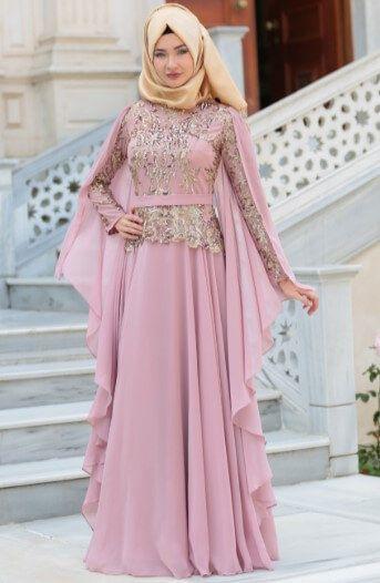 Tesettur Nisan Elbisesi Modelleri 2019 Aksamustu Giysileri The Dress Elbise