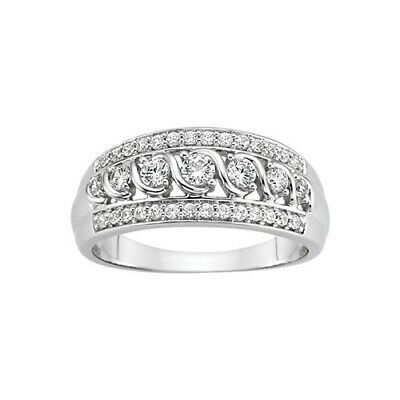 1 2 Ct Tw Diamond Anniversary Ring In 10k White Gold Diamond Wedding Band Sets Diamond Anniversary Rings Diamond Anniversary