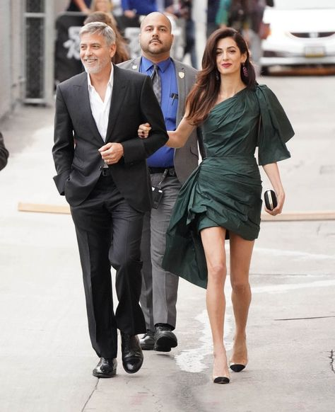 Amal Clooney's Green Mini Dress Will Inspire You To Add This Rich Hue To Your Closet Source by https