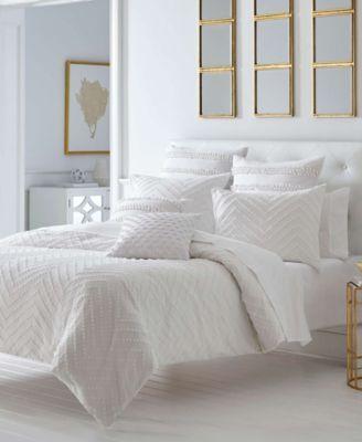 Freya White Duvet Set King Macys Com White Duvet White Comforter Duvet Sets