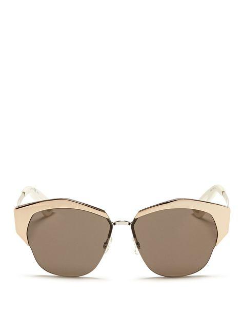 6ca3ea2b02 DIOR - 'Mirrored' contrast metal angled cat eye sunglasses