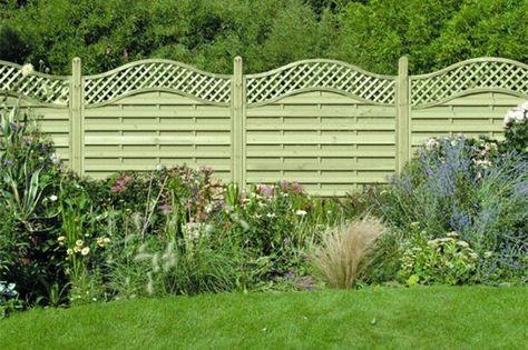clôture en PVC en forme ondulée en couleur gris vert naturelle