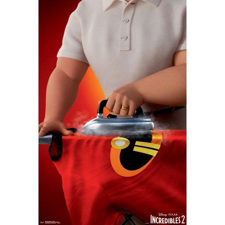 The Incredibles 2 - Ironing Poster and Poster Clip Bundle