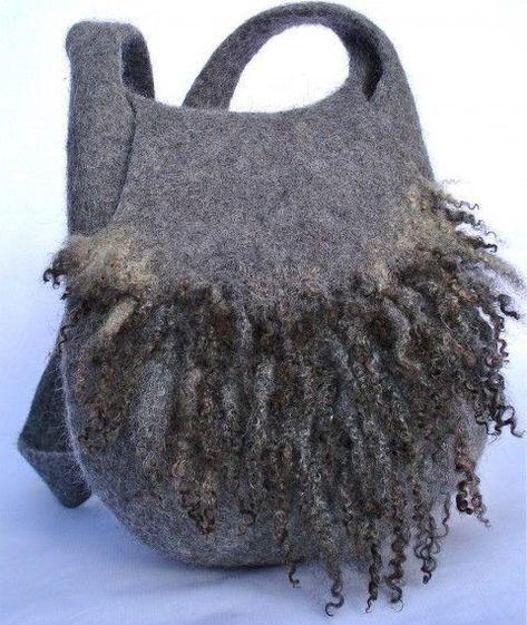 bbbac0377e38 Для любительниц больших сумок! | СУМКИ ВАЛЯНЫЕ | Фетр, Сумки и Валяние