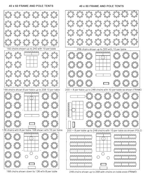 tent layout ideas