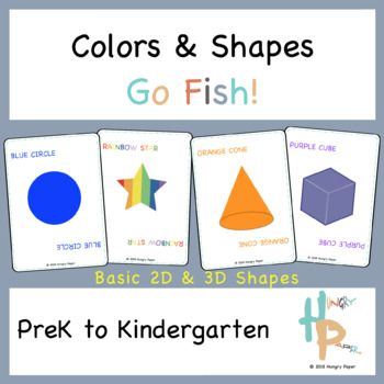 Colors Shapes Go Fish Going Fishing 1st Grade Math Color Shapes