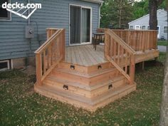Great Lighting Build Into Deck Stairs