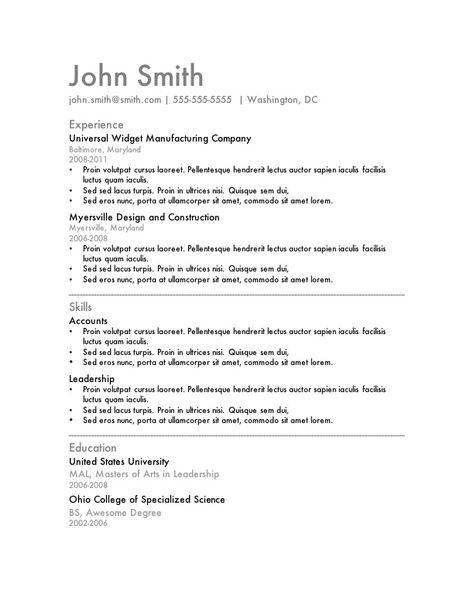Resume Template For Machine Operator Resume Template For Mac - resume for machine operator