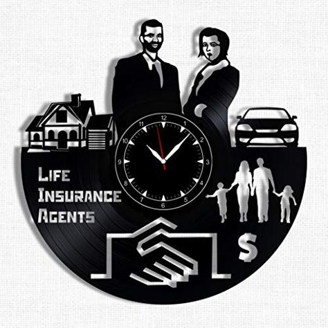 Life Insurance Agents Vinyl Record Clock Wall Clock Lif Https Www Amazon Com Dp B07hwmmy7r Ref Cm S Vinyl Record Clock Life Insurance Agent Record Clock