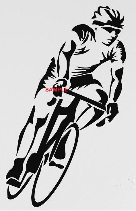 Cyclist Cross Stitch Chart by crossstitcher1 on Etsy