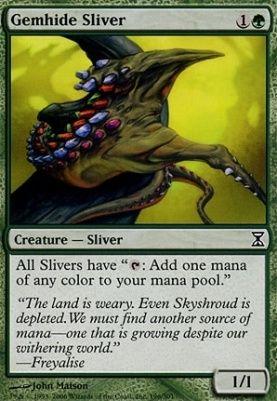 Gemhide Sliver Time Spiral Magic The Gathering Cards Mtg
