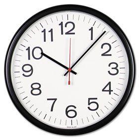 Better Homes Gardens W85961 12 Inch Analog Atomic Black Wall Clock Walmart Com Outdoor Clock Outdoor Wall Clocks Black Wall Clock